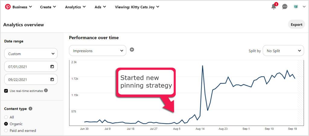 Pinterest e-commerce case study results